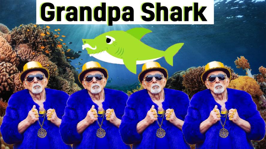 Grandpa Shark and fish