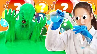 scientist doing science on a slime