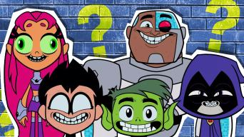 Teen Titans pulling funny faces