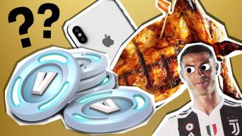 V bucks, nandos, iphone and fifa all in one amazing picture!