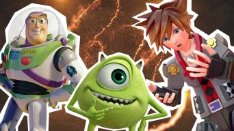 Buzz Lightyear, Mike from Monsters Inc and Sora from Kingdom of Hearts 3