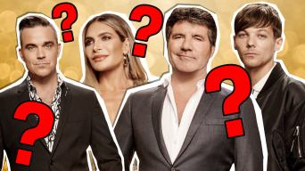 the x-factor judges and questions marks everywhere