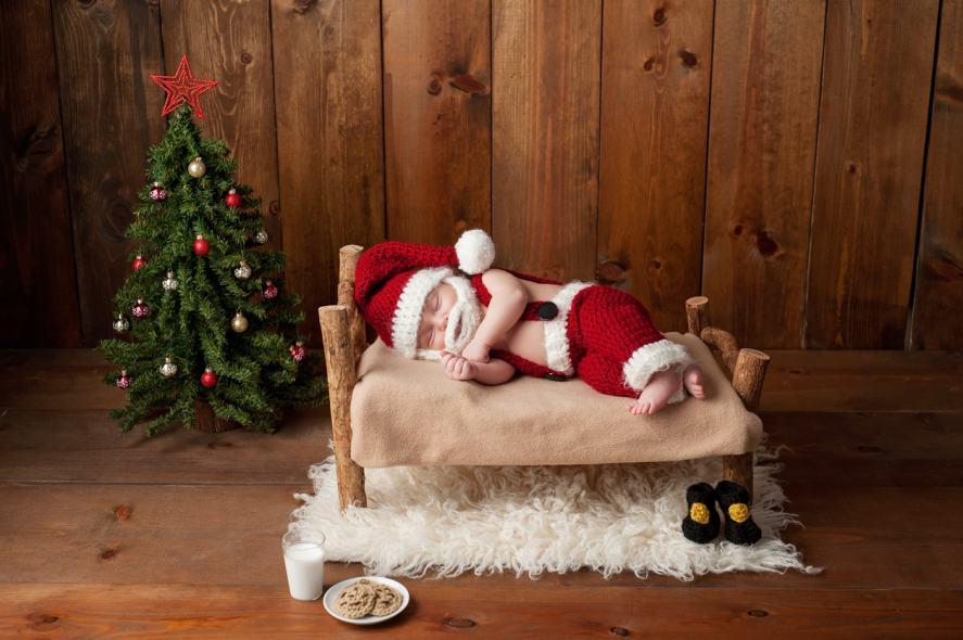 A baby Santa Claus