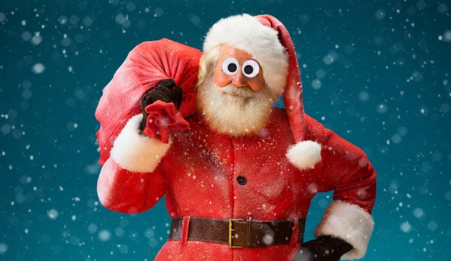 Santa with a big bag of toys