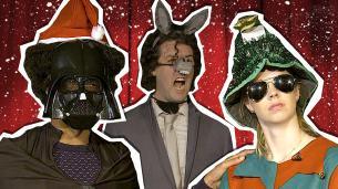 Darth Vader, a Christmas Elf and a Donkey