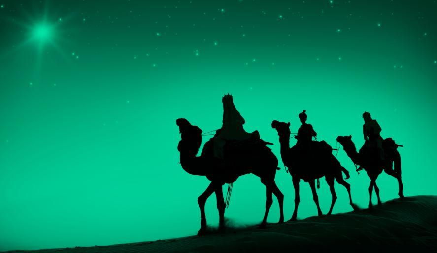 Christmas Quiz: camel shadows on green sky