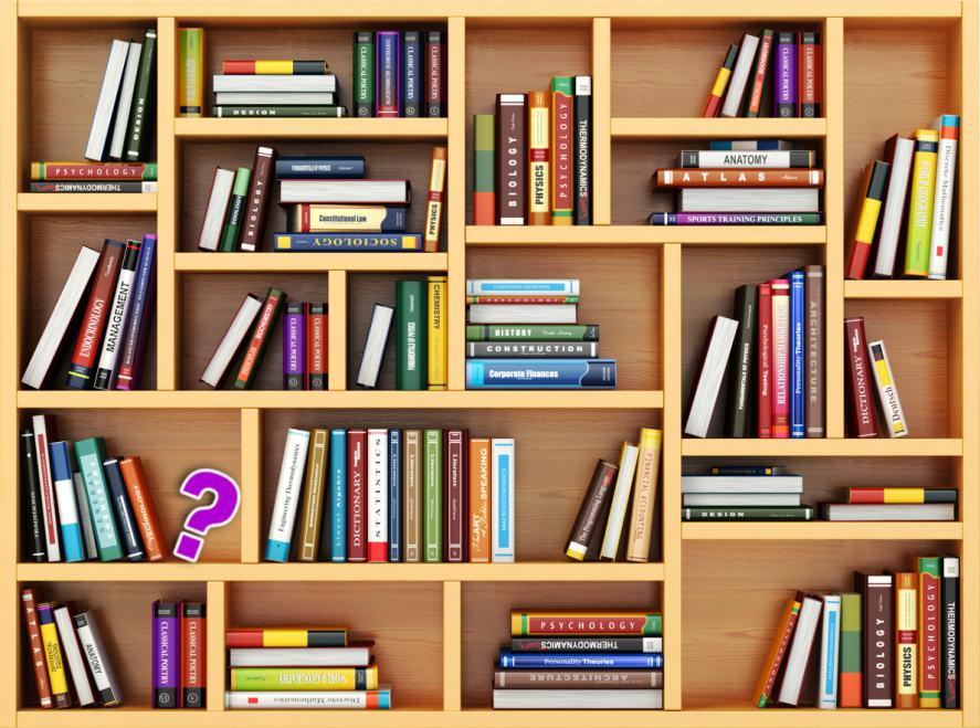 A massive bookshelf