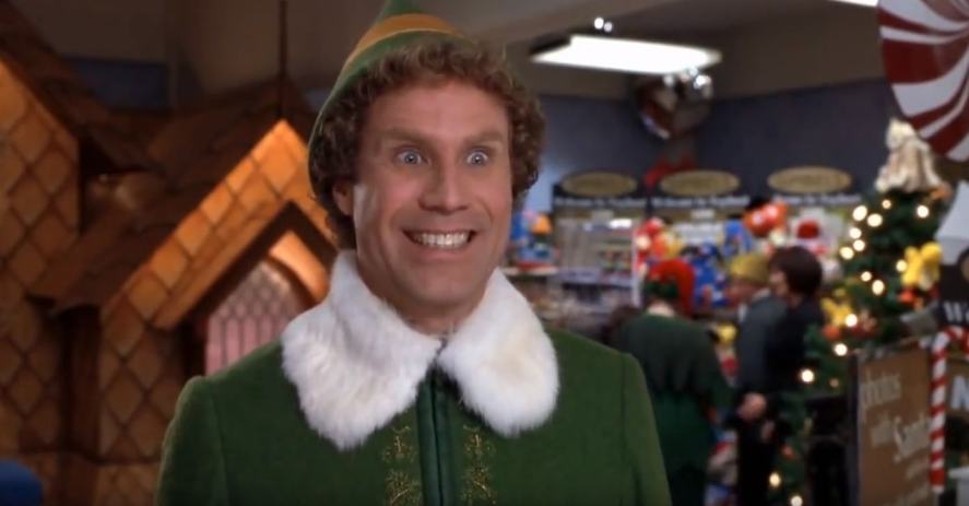 A scene from the film Elf