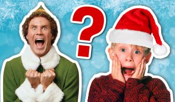 Will Ferrell and Macaulay Culkin in the Christmas quiz