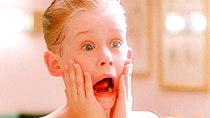 Home Alone –Kevin McAllister puts after shave on