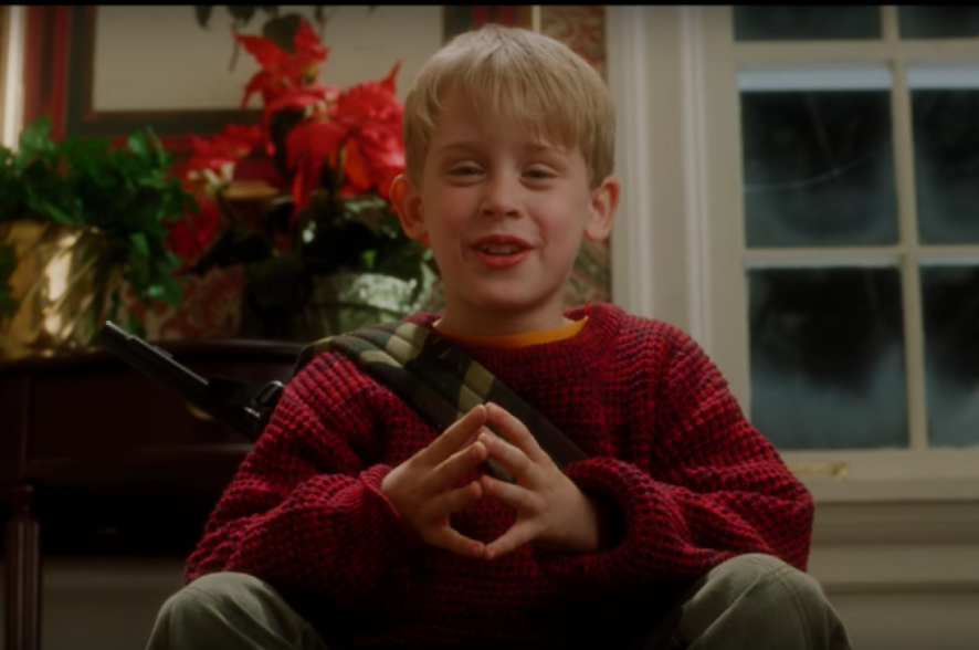 Kevin McAllister plots his next move in Home Alone
