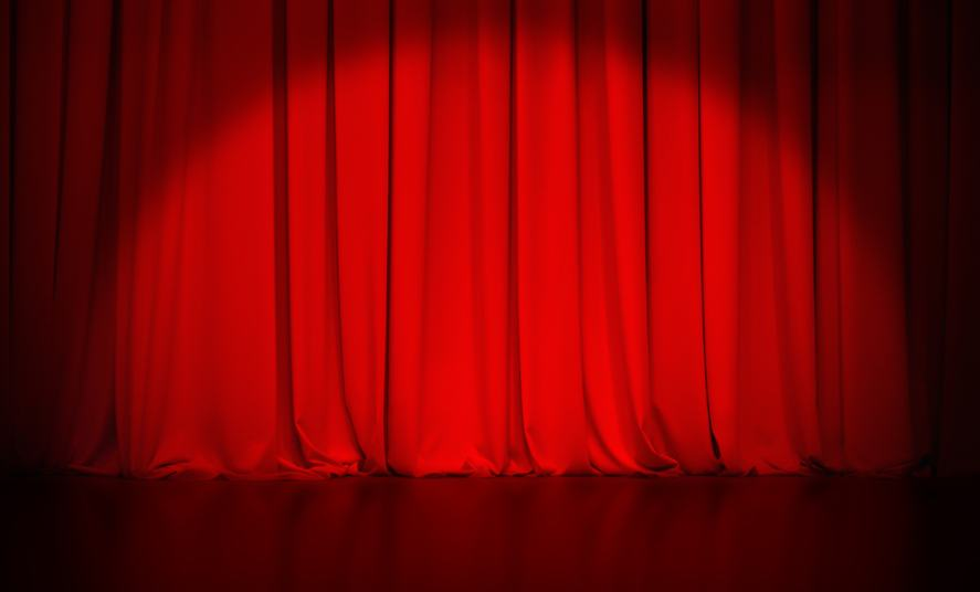 A red theatre curtain
