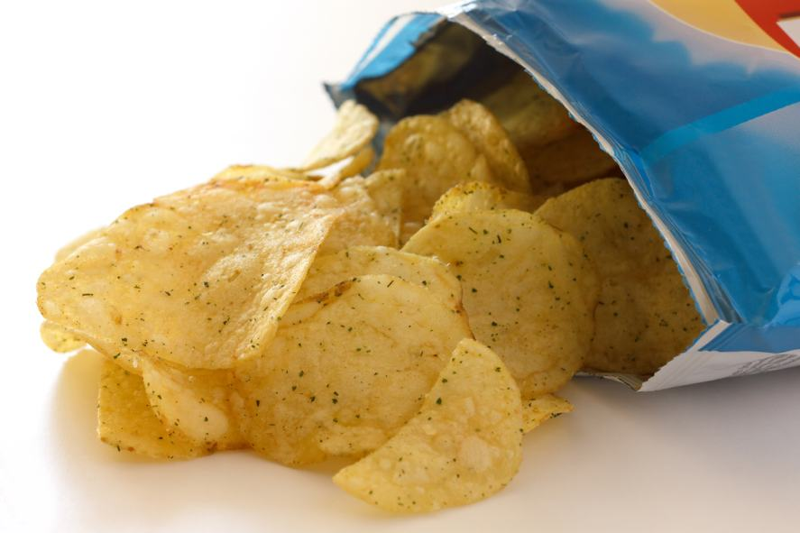 A bag of cheese and onion crisps