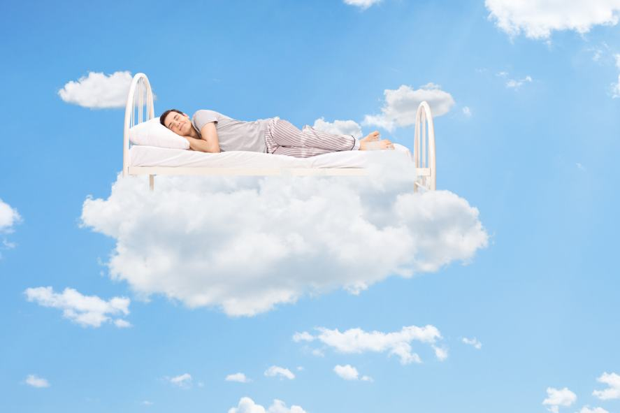 A bed on a cloud