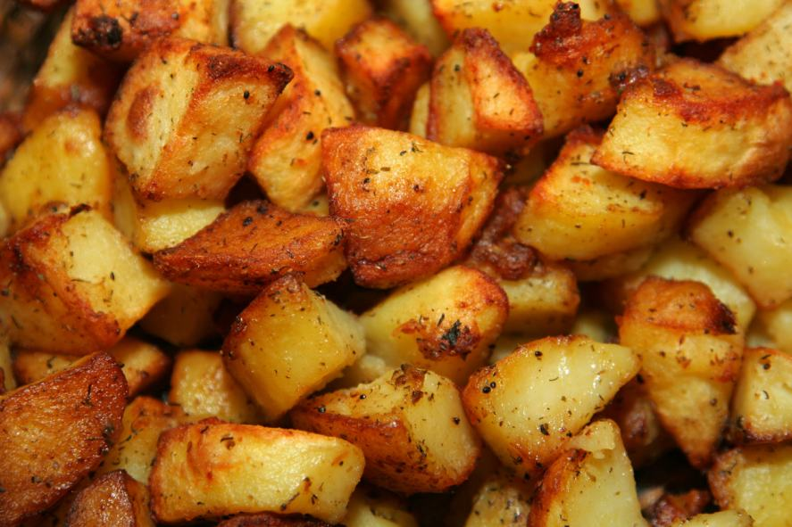 A mountain of delicious roast potatoes