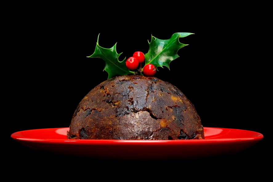 A magnificent Christmas pudding
