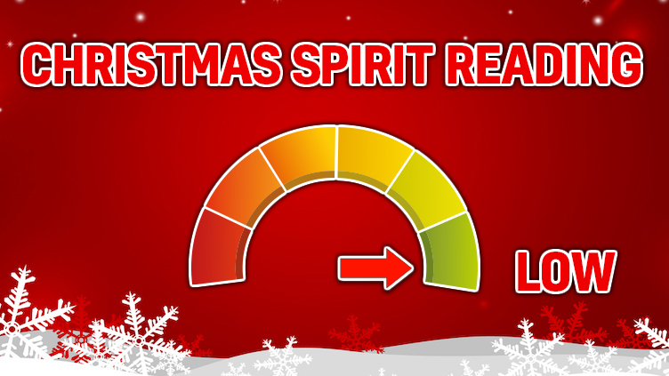 Christmas Spirit Rating: LOW!