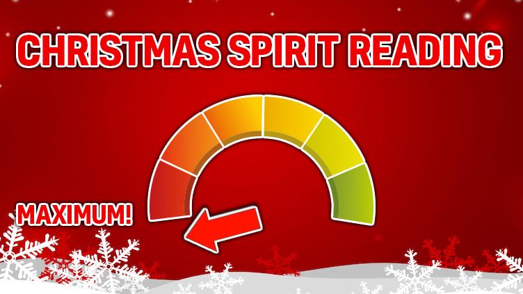 Christmas Spirit Rating: MAXIMUM!