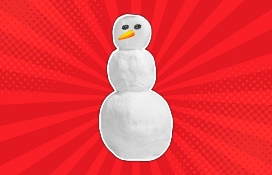 Snowman eyes