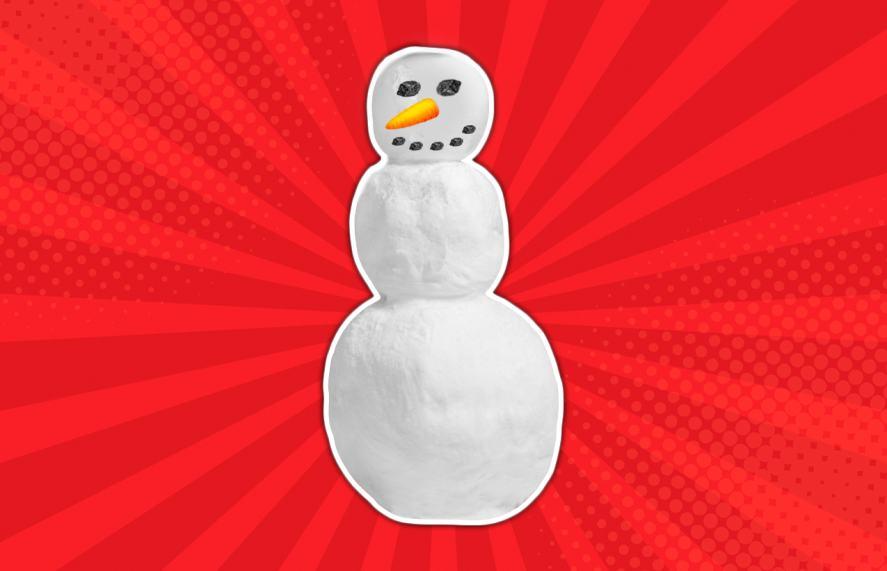 Snowman smile using coal