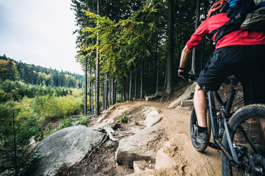 A mountain biking adventure