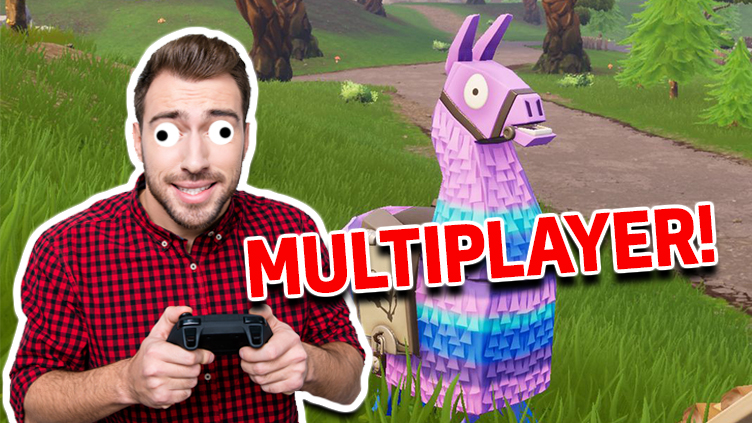 A man confronted by a llama on Fortnite