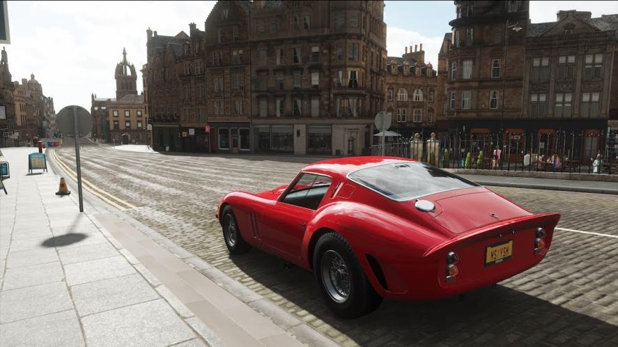 A shot of a Ferrari 250 GTO from Forza Horizon 4