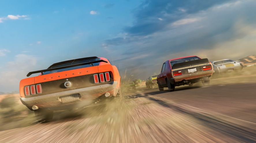 A screen grab from Forza Horizon 3