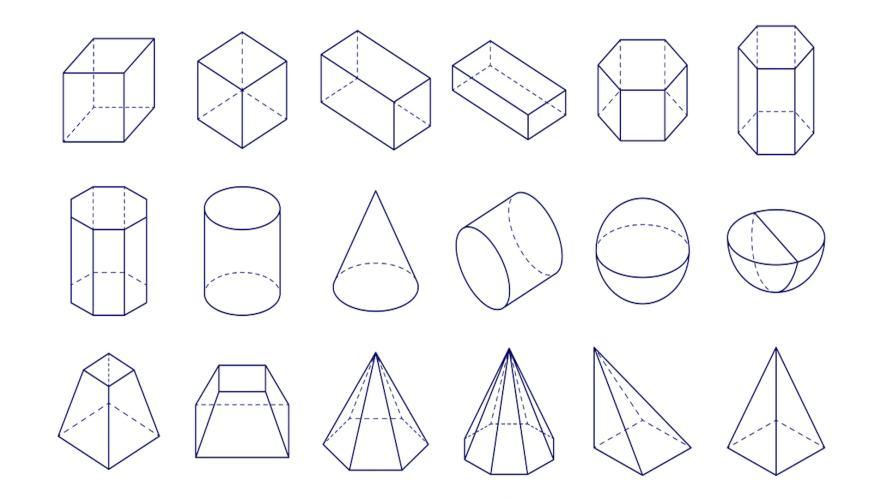 A chart of geometric shapes