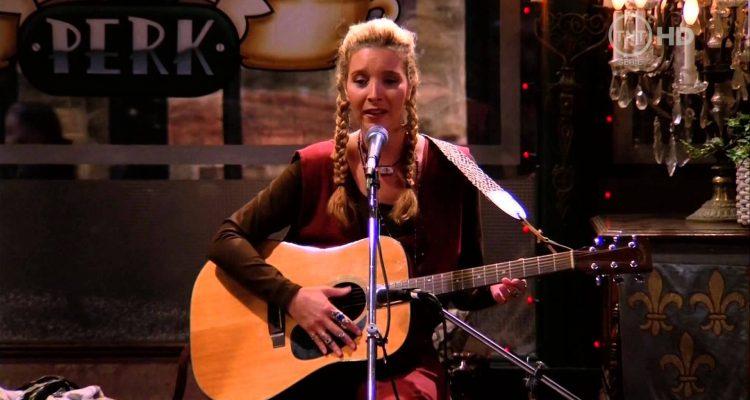 Phoebe Buffay playing guitar