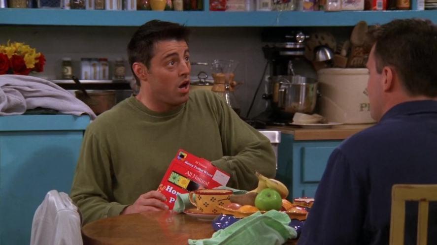 Joey looks surprised