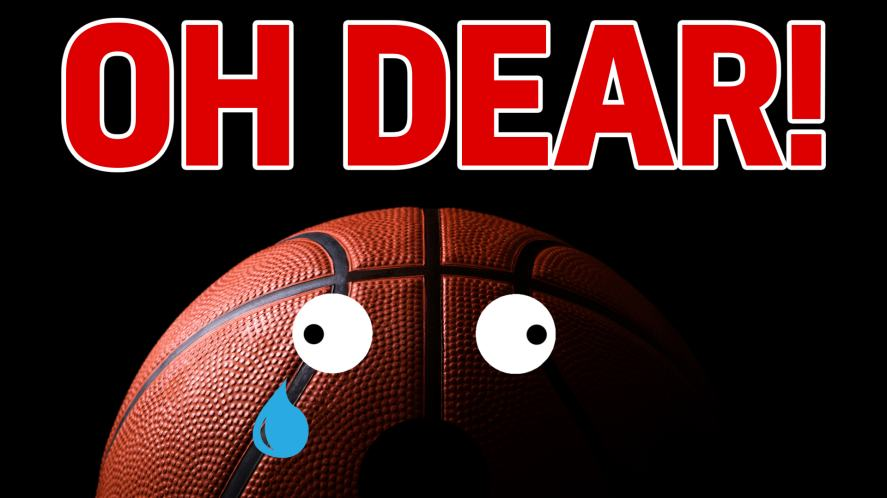 Oh dear, your low score has made this basketball look sad.