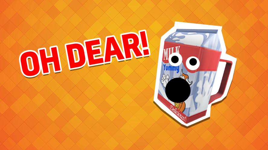 Oh dear. This milk carton can't believe your score!