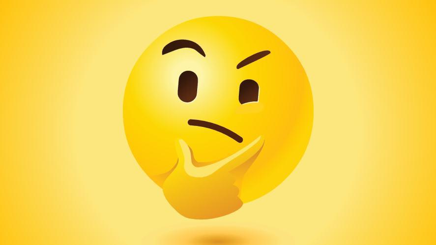 A thinking emoji