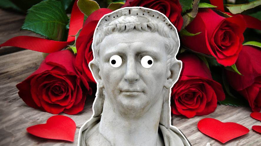 A statue of Emperor Claudius II