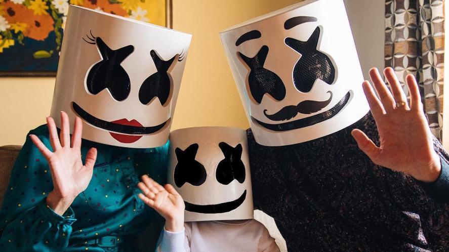 DJ Marshmello in a family photo