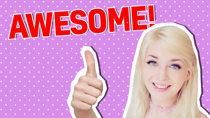 Connie Glynn gives a thumbs up for your quiz success!