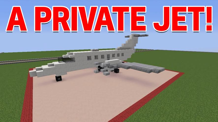 A Minecraft jet