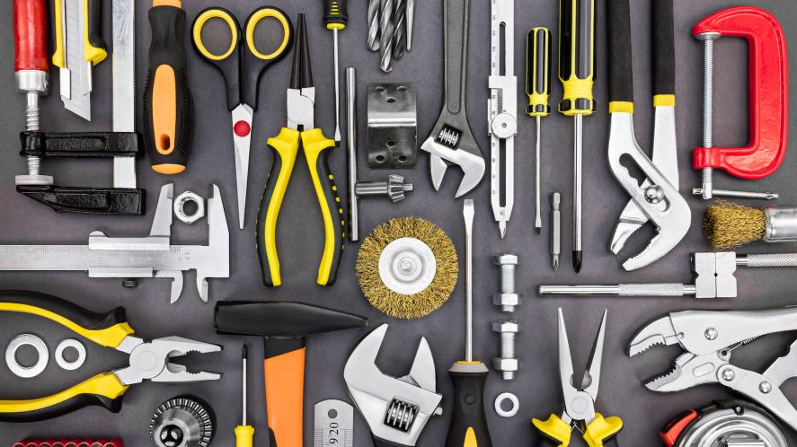 A selection of DIY tools