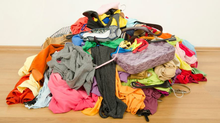 A pile of crumpled clothes
