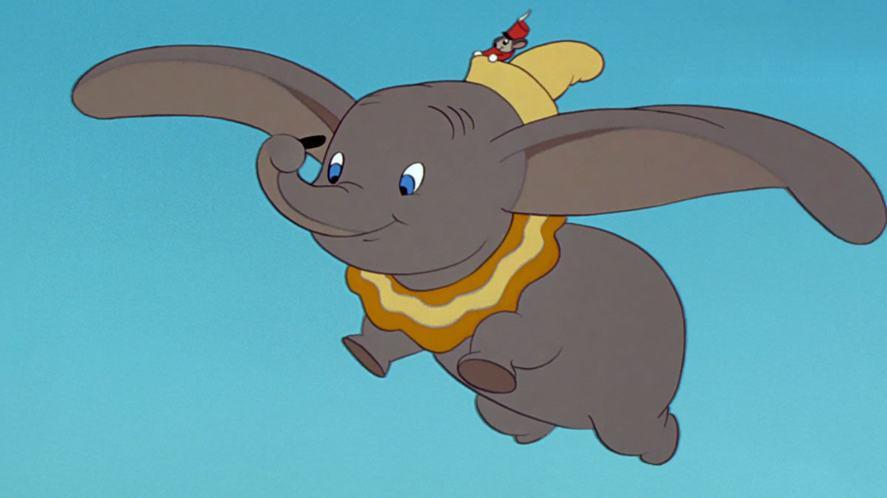 Dumbo flying in the original movie