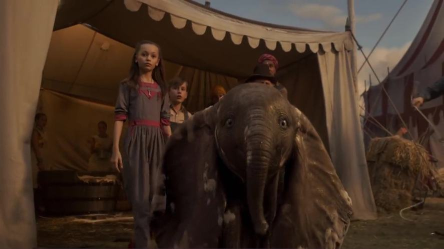 A scene from the new version of Dumbo