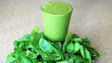 A spinach drink... yummy!