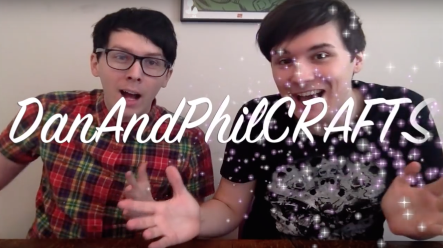Dan and Phil make stuff on their crafts channel