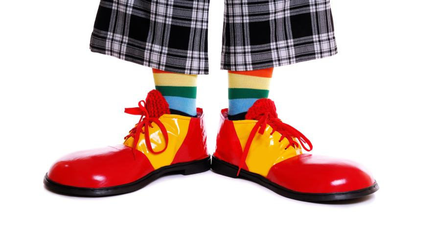 A pair of clown's shoes