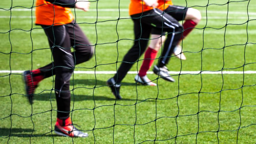 A football training session