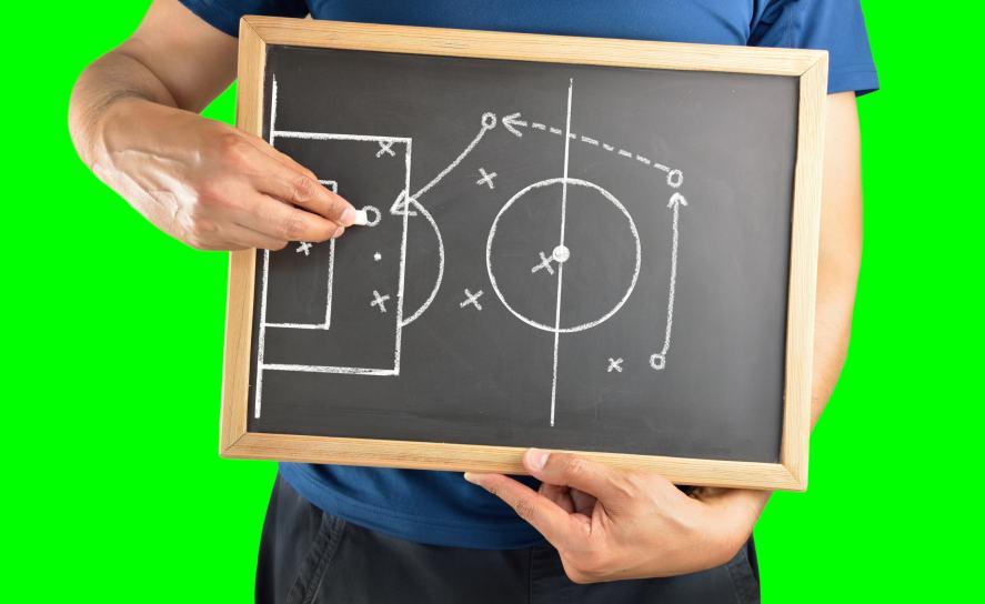 A football tactic board