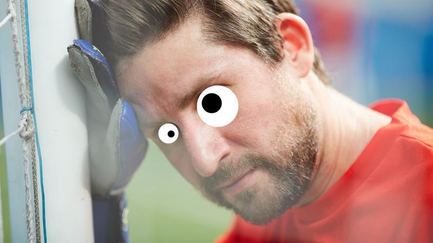 A nervous goalkeeper