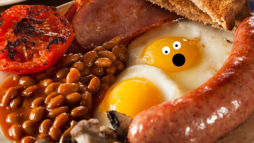 Fried English breakfast