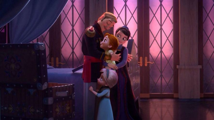 The royal family in Frozen
